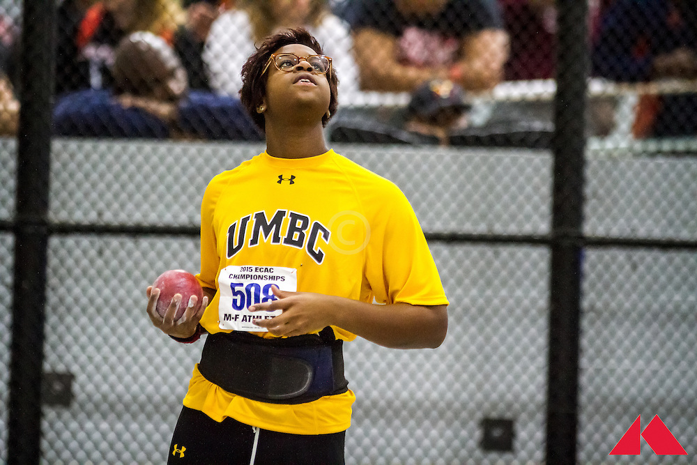 ECAC Indoor Champs, womens shot put, UMBC