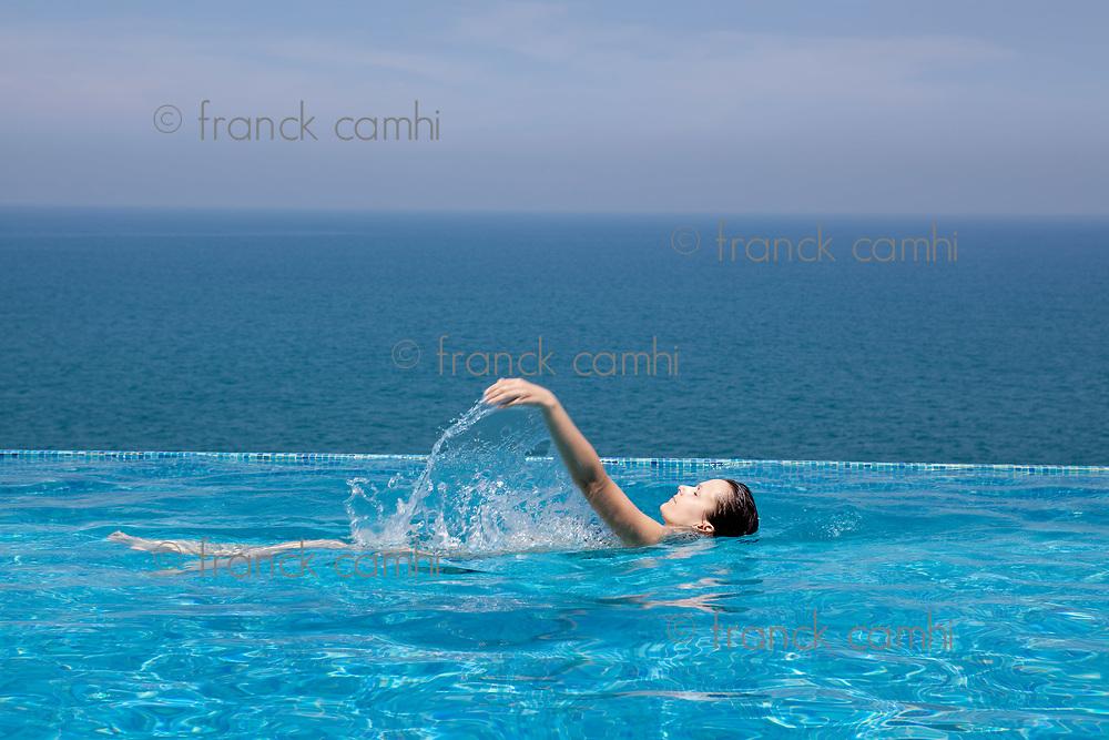 splendid swimming pool in a hotel resort in Kerala state india