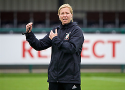 NEWPORT, WALES - Tuesday, June 5, 2018: Wales' manager Jayne Ludlow during a training session at Dragon Park ahead of the FIFA Women's World Cup 2019 Qualifying Round Group 1 match against Bosnia and Herzegovina. (Pic by David Rawcliffe/Propaganda)