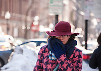 The North End Boston, Massachusetts in winter. ©2015  Karen Bobotas Photographer