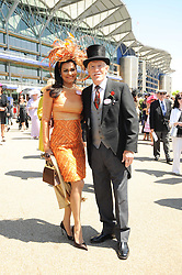 BRUCE FORSYTH and his wife WILNELIA at the third day of the Royal Ascot 2010 (Ladies Day) Racing Festival at Ascot Racecourse, Bershire on 17th June 2010.