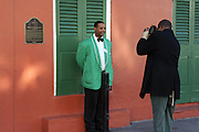 Jamel Shabazz photographing in the French Quarter on December 12, 2008 in New Orleans, Louisana