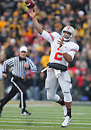November 20 2010: Ohio State Buckeyes quarterback Terrelle Pryor (2) throws the ball during the second quarter of the NCAA football game between the Ohio State Buckeyes and the Iowa Hawkeyes at Kinnick Stadium in Iowa City, Iowa on Saturday November 20, 2010. Ohio State defeated Iowa 20-17.