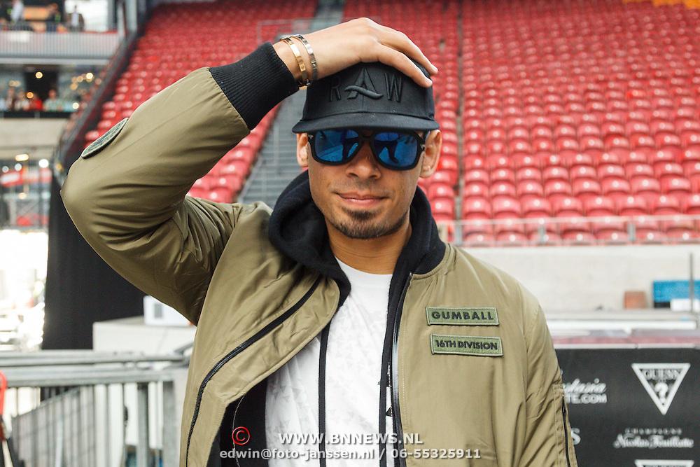 NLD/Amsterdam/20150526 - Gumball 3000 aankomst in de Amsterdam Arena, Afrojack