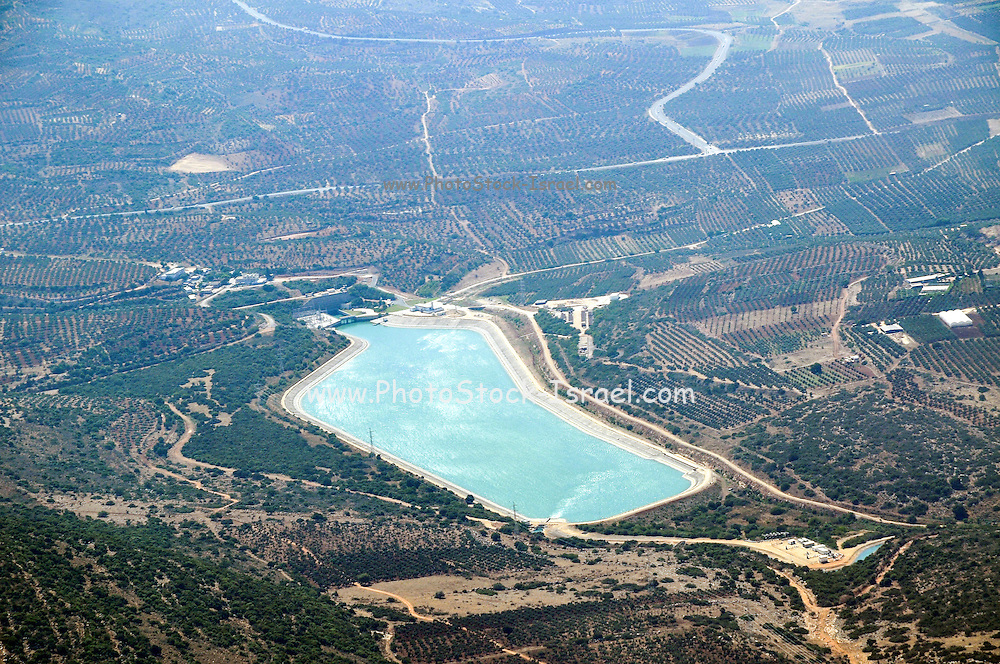 Israel, Lower Galilee, Bet Netofa Valley, Eshkol Central Filtration Plant, Mekorot, The National Water Carrier Aerial view
