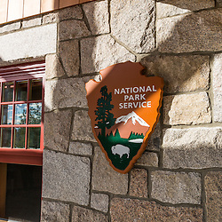 The visitor center at Schoodic Woods Campground in Maine's Acadia National Park.