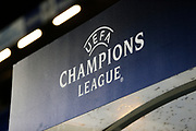 Champions League sign inside of Stamford Bridge ahead of the Champions League match between Chelsea and Bayern Munich at Stamford Bridge, London, England on 25 February 2020.