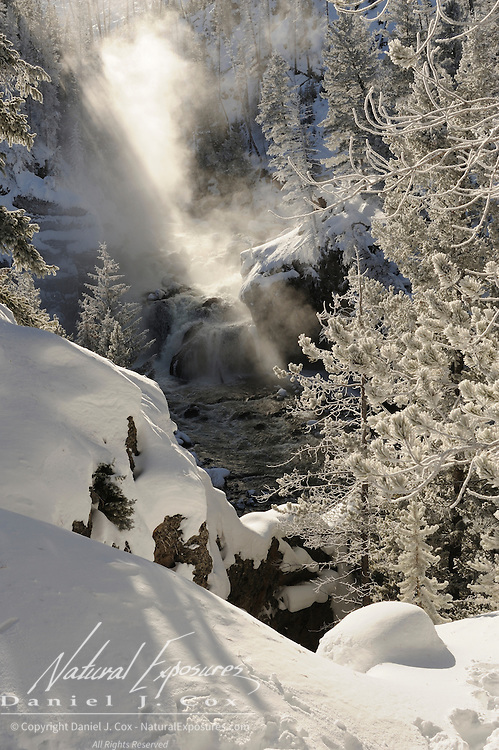 Firehole Falls on the Firehole River. Yellowstone National Park, Wyoming