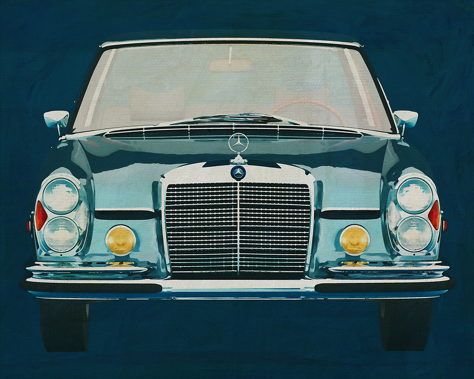 Mercedes 300 SEL<br /> The Mercedes 300 SEL is the most classic Mercedes you can imagine. Who hasn't seen a Mercedes like that in his youth. Pure Nostalgia is this Mercedes 300 SEL. With this painting of the Mercedes, seen from the front, you get an icon of German solidity. -<br /> <br /> BUY THIS PRINT AT<br /> <br /> FINE ART AMERICA<br /> ENGLISH<br /> https://janke.pixels.com/featured/mercedes-300-sel-front-jan-keteleer.html<br /> <br /> WADM / OH MY PRINTS<br /> DUTCH / FRENCH / GERMAN<br /> https://www.werkaandemuur.nl/nl/shopwerk/Mercedes-300-SEL-6-3-1972/571985/132
