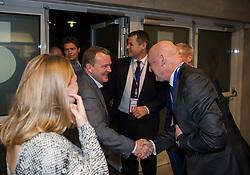 DK:<br /> 20151205, Herning, Danmark:<br /> IHF Verdensmesterskabet i H&aring;ndbold for kvinder Danmark 2015. Danmark - Japan. Statsminister Lars L&oslash;kke Rasmussen, Borgmester i Herning Lars Krarup og Georg S&oslash;rensen, adm. dir. i MCH<br /> Foto: Lars M&oslash;ller<br /> UK: <br /> 20151128, Odense, Denmark:<br /> IHF Women&acute;s Handball World Championship Denmark 2015. Denmark - Japan. Primeminister Lars L&oslash;kke Rasmussen, Mayor in  Herning Lars Krarup and Georg S&oslash;rensen, CEO in MCH<br /> Photo: Lars Moeller