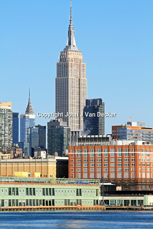 Empire State Building as viewed from the Hudson River