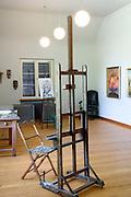 Museum Haus Dix, innen, Atelier, Gaienhofen, Höri, Bodensee, Untersee, Baden-Württemberg, Deutschland