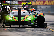 March 12-16, 2019: Mobil 1 12 hours of Sebring. #11 GRT Grasser Racing Team Lamborghini Huracan GT3, Orange 1 Racing, GTD: Mirko Bortolotti, Rik Breukers, Rolf Ineichen pitstop