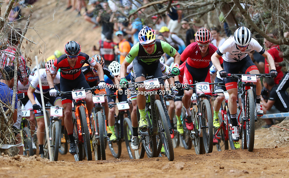 General View during the 2018 UCI Mountain Bike World Cup Mens Elite race in Coetzenburg, Stellenbosch on 10 March 2018 ©Chris Ricco/BackpagePix / www.photosport.nz