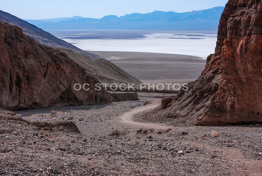 Roadway to Death Valley Salt Flats