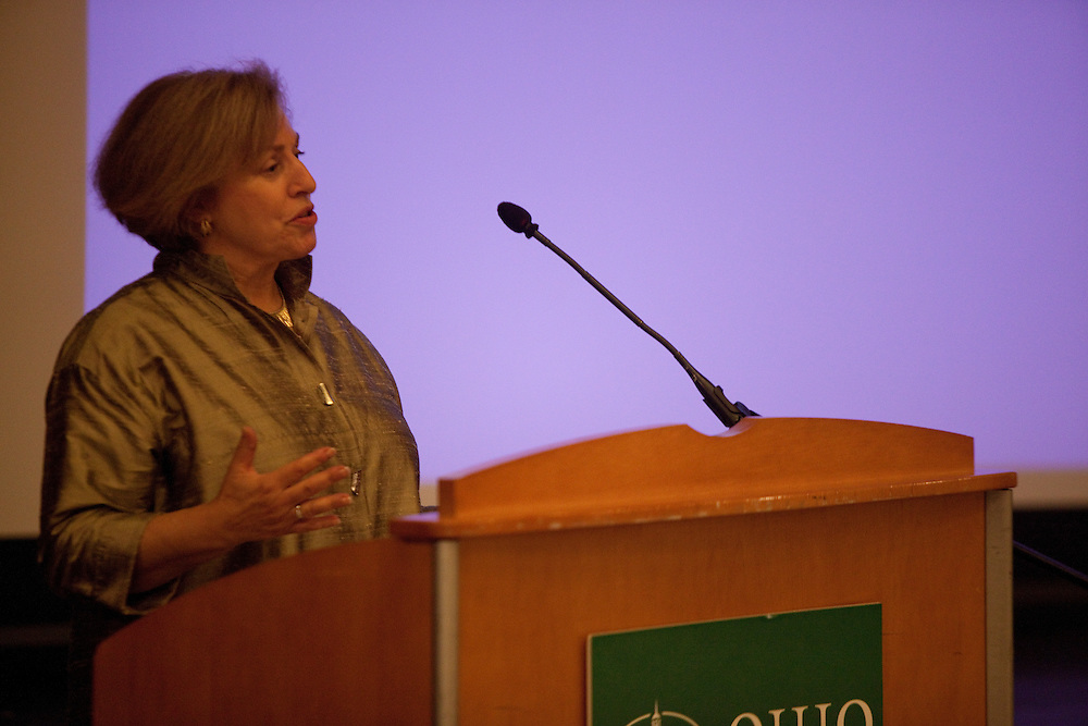 WIP executive Arlene Greenfield at Women in Philanthropy of Ohio University documentary premier at Baker Center Theater on November 6, 2013.