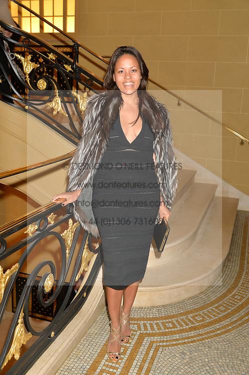 RACHEL BARRETT at the Sindika Dokolo Art Foundation Dinner held at The Cafe Royal, Regent Street, London on 18th October 2014.