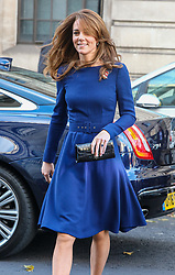 © Licensed to London News Pictures. 07/11/2019. London, UK. The Duchess of Cambridge arrives at the launch of the National Emergencies Trust at St Martin-in-the-Field, London. The National Emergencies Trust is an independent charity which provides an emergency response to disasters in the UK. Photo credit: Alex Lentati/LNP