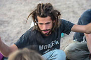 Man at Middle East Tek Festival in Wadi Rum, Jordan, October 2008