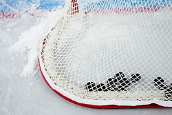Pucks during practice session of Slovenian National Ice Hockey team first time in Arena Stozice before 2012 IIHF World Championship DIV I Group A in Slovenia, on April 13, 2012, in Arena Stozice, Ljubljana, Slovenia. (Photo by Vid Ponikvar / Sportida.com)