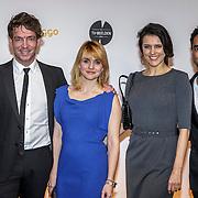 NLD/Amsterdam/20150302 - Uitreiking TV Beelden 2015, Jan Willem Roodbeen, Sofie van der Enk, Susan Visser en Freek Bartels