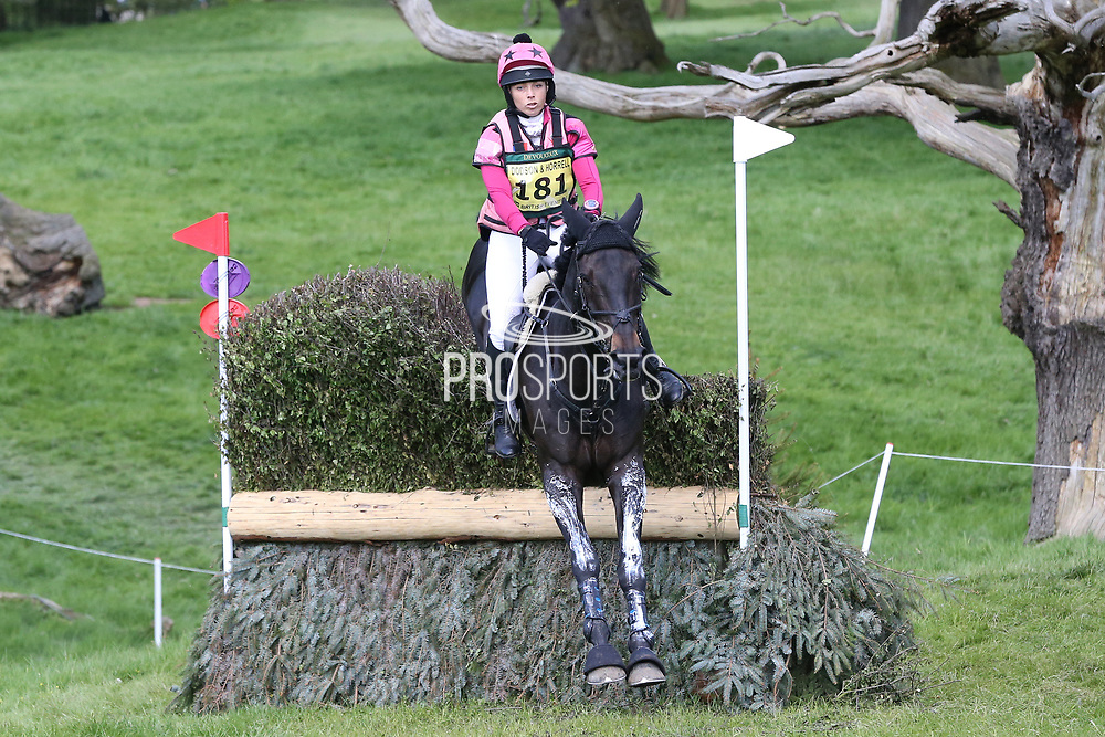 Emma Hyslop-Webb on Pennlands Douglas during the International Horse Trials at Chatsworth, Bakewell, United Kingdom on 13 May 2018. Picture by George Franks.