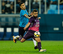 August 24, 2017 - Saint Petersburg, Russia - Leandro Paredes (L) of FC Zenit Saint Petersburg and Zakaria Labyad of FC Utrecht vie for the ball during the UEFA Europa League play-off round second leg match between FC Zenit St. Petersburg and FC Utrecht at Saint Petersburg Stadium on August 24, 2017 in Saint Petersburg, Russia. (Credit Image: © Mike Kireev/NurPhoto via ZUMA Press)