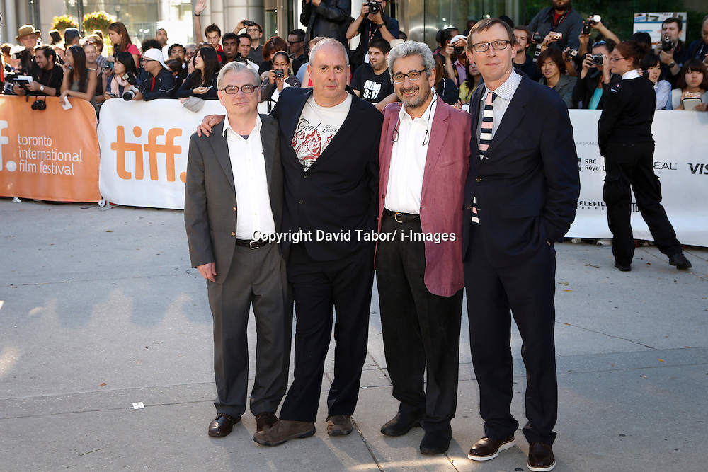 (L-R) Writer RICHARD NELSON, Director ROGER MICHELL and Producers DAVID AUKIN and KEVIN LOADER  at the 'Hyde Park On Hudson' premiere during the 2012 Toronto International Film Festival at Roy Thomson Hall, September 10th. Photo by David Tabor/ i-Images.