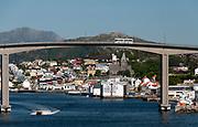 The bridge across the fjord in the city of Kristiansund, Norway.