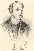 John Kitto (1805-1854) Cornish-born English author and missionary.  Became deaf in 1817. Produced the 'Pictorial Bible' (1838). Woodcut c1860.
