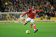 Jonathan Kodjia during the Sky Bet Championship match between Wolverhampton Wanderers and Bristol City at Molineux, Wolverhampton, England on 8 March 2016. Photo by Daniel Youngs.