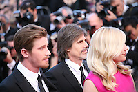 Garret Hedlund, Walter Salles, Kirsten Dunst, at the On The Road gala screening red carpet at the 65th Cannes Film Festival France. The film is based on the book of the same name by beat writer Jack Kerouak and directed by Walter Salles. Wednesday 23rd May 2012 in Cannes Film Festival, France.