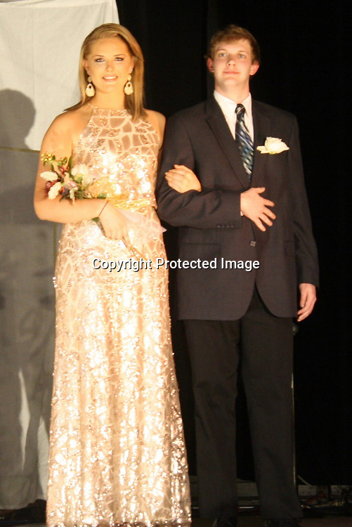 Carley Reeves is pictured with escort, Chet Moffett.