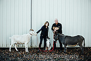 Dave Grooters & Robin Russell of Carlton Cellars with their animal family
