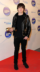 Mercury Prize. <br /> Jake Bugg attends the Barclaycard Mercury Prize at The Roundhouse, London, United Kingdom. Wednesday, 30th October 2013. Picture by i-Images