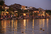 Twilight along Bach Dang Street in the old town of Hoi An, Vietnam