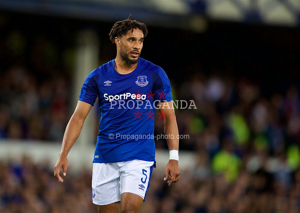 LIVERPOOL, ENGLAND - Thursday, August 17, 2017: Everton's Ashley Williams during the UEFA Europa League Play-Off 1st Leg match between Everton and HNK Hajduk Split at Goodison Park. (Pic by David Rawcliffe/Propaganda)