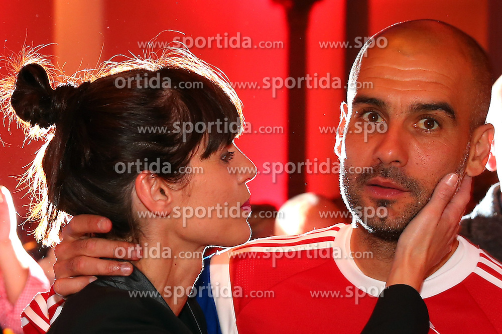 17.05.2014, T Com, Berlin, GER, DFB Pokal, Bayern Muenchen Pokalfeier, im Bild Josep Guardiola, head coach of Bayern Muenchen and his wife Cristina Serra Josep Guardiola, Cristina Serra, // during the FC Bayern Munich &quot;DFB Pokal&quot; Championsparty at the T Com in Berlin, Germany on 2014/05/17. EXPA Pictures &copy; 2014, PhotoCredit: EXPA/ Eibner-Pressefoto/ EIBNER<br /> <br /> *****ATTENTION - OUT of GER*****