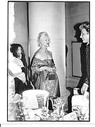 Jibby Beane, Centenary Gala dinner, Tate Gallery. London. 1 July 1997. © Copyright Photograph by Dafydd Jones 66 Stockwell Park Rd. London SW9 0DA Tel 020 7733 0108 www.dafjones.com