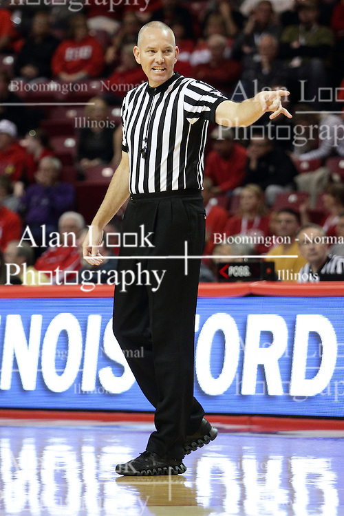 16 November 2015:  James Durham makes a call. Illinois State Redbirds host the Morehead State Eagles at Redbird Arena in Normal Illinois (Photo by Alan Look)