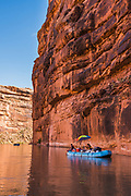 Rafting the San Juan River through the canyon country in southeastern Utah.