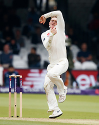 England's Dom Bess during day two of the First NatWest Test Series match at Lord's, London.
