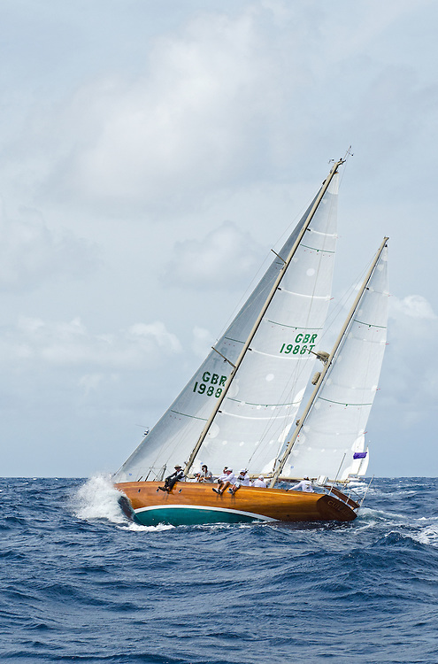 CUILAUN.<br /> <br /> Back in the 60s, classic yachts, which were gathered in English Harbour Antigua, had begun chartering and the captains and crews challenged each other to a race down to Guadeloupe and back to celebrate the end of the charter season. From this informal race, Antigua Race Week was formalised in 1967, and in those days all of the yachts were classics. As the years grew on, the classic yachts were slowly outnumbered but the faster sleeker modern racing yachts and 24 years later the Classic Class had diminished to a few boats and was abandoned in 1987. However this same year seven classic yachts turned out and were placed in Cruising Class 3 with the bare boats. The class was so unmatched that it was downright dangerous, so Captain Uli Pruesse hosted a meeting onboard Aschanti of Saba with several classic skippers and in 1988 the Antigua Classic Yacht Regatta was born, with seven boats.<br /> <br /> In 1991, Elizabeth Meyer brought her newly refitted Endeavour and Baron Edmond Rothschild brought his 6-meter Spirit of St Kitts and &ldquo;CSR&rdquo; became the first Sponsor and inaugurated the Concours d&rsquo;El&eacute;gance. In 1996 we created the &ldquo;Spirit of Tradition Class&rdquo;, which has now been accepted all over the world, which gives the &ldquo;new&rdquo; classics, built along the lines of the old, a chance to sail alongside their sister ships. In 1999 we celebrated the first race between the J class yachts in 60 years. Mount Gay Rum has sponsored the Regatta for many years, and we have recently added Officine Panerai as our first ever Platinum Sponsor.<br /> <br /> The Antigua Classic Yacht Regatta has maintained a steady growth, hosting between 50 and 60 yachts every year and enjoys a wonderful variety of competitors, including traditional craft from the islands, classic ketches, sloops, schooners and yawls making the bulk of the fleet, together with the stunningly beautiful Spirit of Tradition yachts, J Class yachts and Tall Ships.