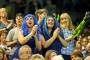 Great Britain fans celebrate during the Davis Cup Semi Final between Great Britain and Argentina at the Emirates Arena, Glasgow, United Kingdom on 16 September 2016. Photo by Craig Doyle.