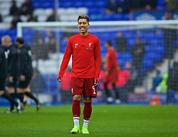 LIVERPOOL, ENGLAND - Sunday, March 3, 2019: Liverpool's substitute Roberto Firmino during the pre-match warm-up before the FA Premier League match between Everton FC and Liverpool FC, the 233rd Merseyside Derby, at Goodison Park. (Pic by Laura Malkin/Propaganda)