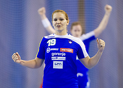 Neli Irman of Slovenia during handball match between Women National teams of Slovenia and Serbia in 2nd Round of Qualifications for 2014 EHF European Championship on October 27, 2013 in Hala Tivoli, Ljubljana, Slovenia. Slovenia defeated Serbia 31-26. (Photo by Vid Ponikvar / Sportida)