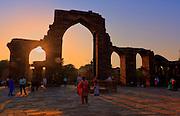 The Iron Pillar, Qutub Minar, Delhi, India.