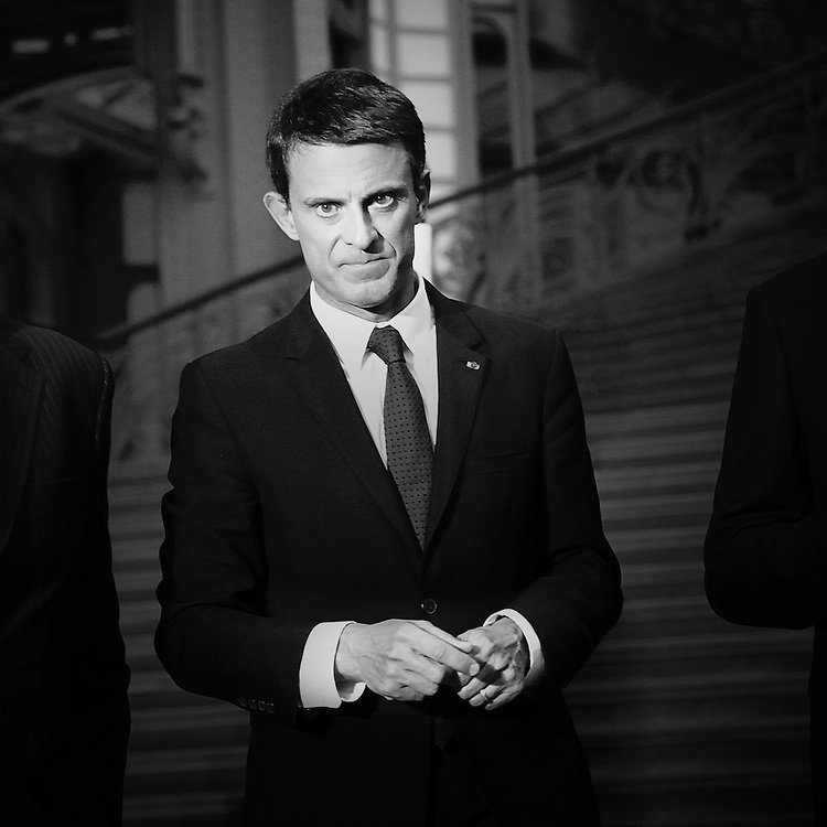 09 Septembre 2015: Manuel Valls le jour de l'inauguration du salon Révélations au Grand Palais à Paris. Paris (75), France.