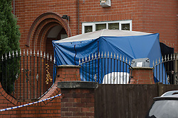 "© Licensed to London News Pictures. 27/07/2015. Salford, UK. Scene of the home of Paul Massey on Manchester Road , Clifton , Salford where Paul Massey - known as Salford's ""Mr Big"" was shot dead last night (26th July 2015 ) . Photo credit: Joel Goodman/LNP"
