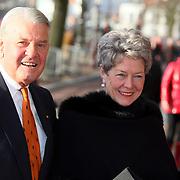 NLD/Amsterdam/20080201 - Verjaardagsfeest Koninging Beatrix en prinses Margriet, Jaap Rost Onnes en partner Mary